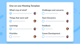 Key Topics One on One Meeting Template