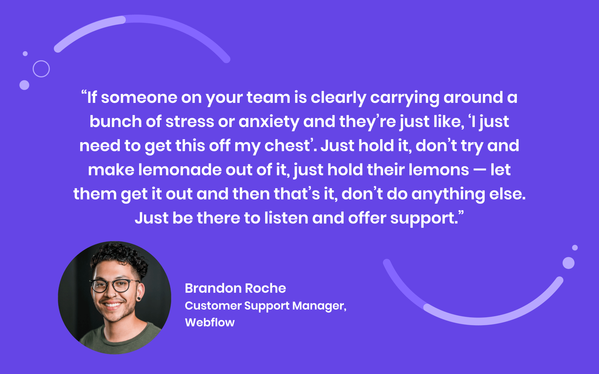 Webflow Customer Support Manager Quote
